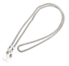 Rainbow Snake Chain for Glasses Neck Cord Wooden Nose Rack Holders RC01 Silver
