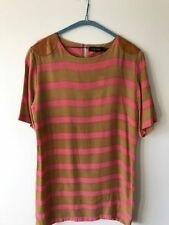 CHIP CHOP Tunic Striped Dress with Leather NEW