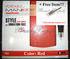 Kupa Nail Drill Portable Mani-Pro Passport Red Electric Filing System KP-55 NEW!