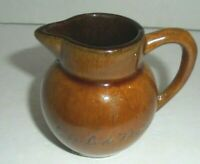Cape Cod Mass. tiny pitcher VINTAGE Tooth pick holder Souvenir Brown Ceramic