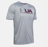 Under Armour T Shirt Mens 2XL Steel Authentic UA Velocity 2.0 Tech Training Tee