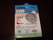SATCO LED Lamps 4W 200 Lumens 120v S8722 QTY 4 MR16
