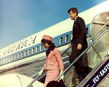 President John F. Kennedy and wife Jackie arrive in Dallas - New 8x10 Photo
