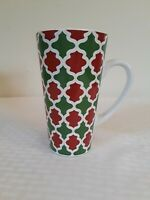 Holiday Coffee Hot Cocoa Mug SCM home Large Red White Green Pattern Christmas