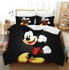 Mickey Mouse Bedding Set Queen King Size Duvet Cover