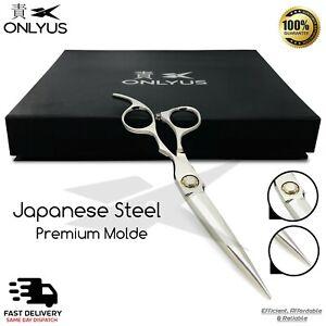"Professional Japanese 6"" Barber Scissor Hair Cutting Salon Onlyus Shears RAZOR"