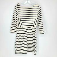 Gap Womens Striped 3/4 sleeve Dress Size M Tall