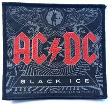 AC/DC BLACK ICE cotone intessuto TOPPA DA CUCIRE UFFICIALE OG 2008 (NON concerto