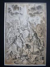 1750 KUPFERSTICH Omnia Ad Unum FRONTISPIZ F. P. Florini Riegel Hauss Vatter