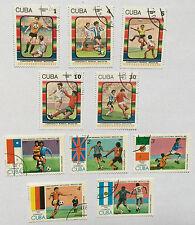 10XCuba Briefmarken, Stamps, Correos 1986, Fußball, Football, Argentina 1978