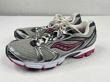 Saucony Grid Stratos 5 Womens Size 10 Running Shoes Gray/Pink/Silver Jogging Gym