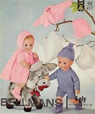 BOY & GIRL DOLL 16,18 & 20 inch / 4ply - COPY doll knitting pattern
