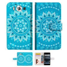 BLUE AZTEC TRIBAL TPU Wallet Case Cover For Nokia 6 2018 -- A001