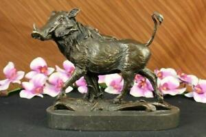 Boar Wild Pig Bronze Statue Sculpture by Barye Figure Farm Animal Lost Wax Decor