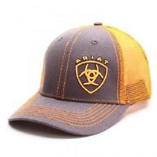 Ariat Men's Grey & Orange Snapback Ball Cap 1595126