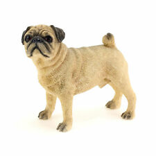 PUG DOG ORNAMENT FIGURINE- FAWN COLOUR-12 X 6 X 11 CMS- FROM LEONARDO DOGS RANGE