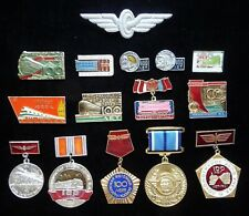 Set 15 USSR Russian Badge 100th Anniversary Soviet Railway Transport