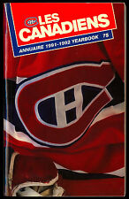 1991-92 MONTREAL CANADIENS HOCKEY YEARBOOK MEDIA GUIDE BILINGUAL WIT PATRICK ROY