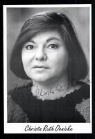 Christa Ruth Oenicke Autogrammkarte Original Signiert ## BC 21996