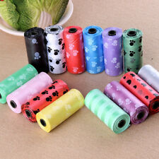 10Roll/150PCS Pet Dog Waste Poop Bag Poo Printing Degradable Clean-up colorful.