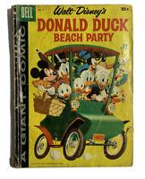 Walt Disney's Comic, DELL GIANT, Beach Party, Donald Duck, # 5, 1958 Reader Copy