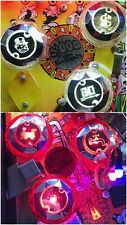 Stern MONOPOLY CHROME PINBALL POP BUMPER DECALS from METAL-MODS CHROME CAPS