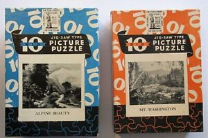 Lot of 2 Vintage Big 10 War Bond Perfect Picture Puzzles in Original Boxes