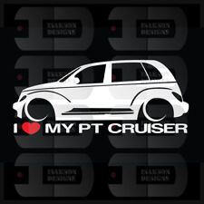 I Heart My PT Cruiser Sticker Love Chrysler Slammed GT Turbo SRT Mopar Stance