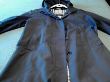 Burberry Woman's Hooded Trench Coat size 10 plaid lining made in England