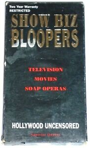 Show Biz Bloopers VHS 1991 TV Movies Soap Operas Hollywood Uncensored