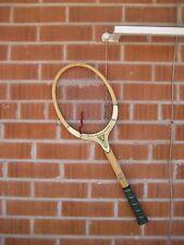 Vintage *** T. A. DAVID *** Custom Made Professional Wooden Tennis Racket USA