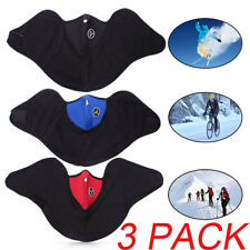 3 Pcs Neoprene Neck Warm Half Face Mask Winter For Bike Bicycle Motorcycle Sport