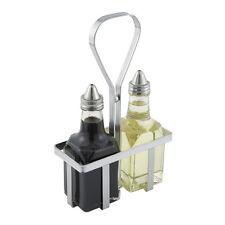 Winco Wh-5, Square Chrome Plated Wire Oil & Vinegar Cruet Rack
