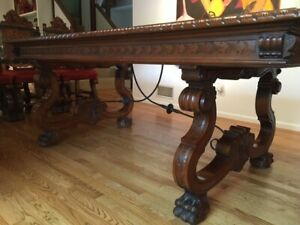 antique Spanish Colonial dining room set