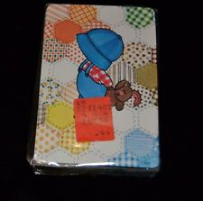 Vtg Little Boy Lad Playing Cards Overalls Patchwork Quilt Bunny Stardust NIP