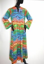 1970s Rainbow connection psychedelic caftan.