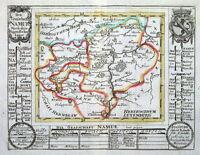 BELGIUM, NAMUR, G.Bodenehr original antique hand coloured map c1720