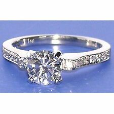 0.62Ct Untreated Diamond Solitaire Engagement Ring 14K Solid Gold  @ No Reserve