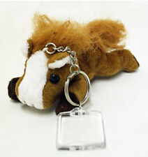 HORSE & WESTERN GIFTS ACCESSORIES GORGEOUS PLUSH HORSE KEY CHAIN KEY RING BROWN