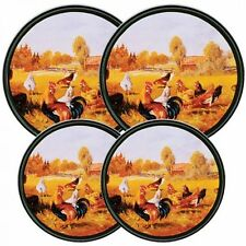 Reston Lloyd Electric Stove Burner Covers, Set of 4, Rooster, New, Free Shipping