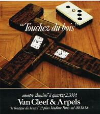 Publicité Advertising 1980 La Montre Domino à quart Van Cleef & Arpels