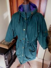 Women's Express Jeans Green Winter Down-Fill Parka Coat Jacket SZ XSM Oversized