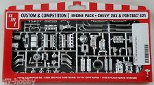 1:25 Scale Chevy 283 & Pontiac 421 Engine Pack - AMT #PP011