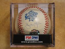 ANDRUW JONES SIGNED AUTOGRAPHED RAWLINGS 1999 WORLD SERIES MLB BALL BRAVES PSA