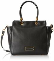 🌞MARC JACOBS TOO HOT TO HANDLE BENTLEY BLACK GOLD ITALIAN LEATHER TOTE BAG🌺NWT