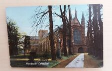 WINCHESTER CATHEDRAL & AVENUE - VINTAGE COLOUR POSTCARD - PRINTED IN SAXONY