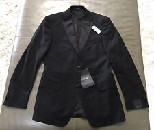 NWT Z-Zegna Mens CITY Tuxedo 100% Wool Black Tuxedo Jacket 46R 38R 36R $1295
