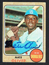 Nate Oliver #124 signed autograph auto 1968 Topps Baseball Trading Card