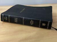 Holy Bible King James Version KJV SUPER GIANT PRINT Holman Black Leather Index