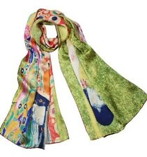 Luxury Long 100% Charmeuse Silk Scarf - Gustav Klimt's Ladies